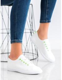 Baltos odos stilingi bateliai kasdienai - 6165GR