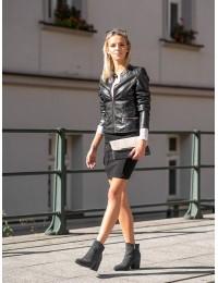 Elegantiški juodos spalvos stilingi kokybiški aulinukai - XY21-10555B