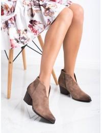 Stilingi aukštos kokybės zomšiniai batai vaškuotu priekiu - XY21-10542D.BE