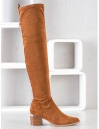 Madingos Camel spalvos stilingi aukštos kokybės ilgi batai virš kelių - 20KZ35-3330C