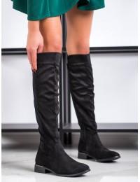 Elegantiški visuomet stilingi juodi klasikinio stiliaus ilgaauliai elastingu aulu - BO-281B