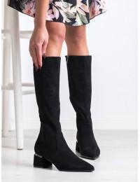 Stilingi originalaus dizaino elegantiški juodi ilgaauliai - DKZ1544/20B