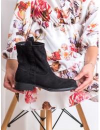 Aukštos kokybės juodi zomšiniai stilingi patogūs batai - ST-18B