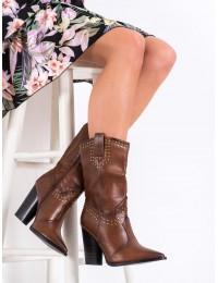 Madingi rudi kaubojiško stiliaus batai - RB63C
