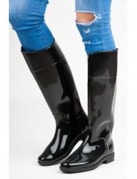 Stilingi aukštos kokybės juodi guminiai batai - NA1310-4B