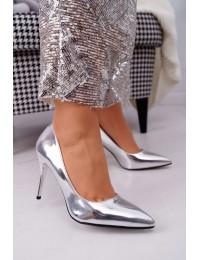 Women s Stilettos Lu Boo Mirrored Silver Lanthe - D-42 SILVER