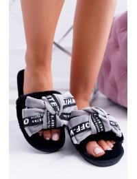 Women Grey Flip-flops With Words Lu Boo News - LB03 WORDS GREY