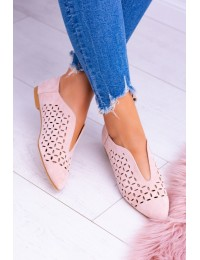 Lu Boo Suede Pink Women Slip-on Synthia shoes - 978-C10 PINK
