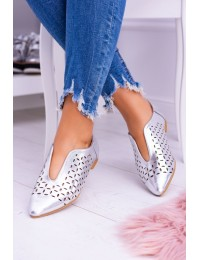 Lu Boo Silver Women Slip-on Synthia shoes - 978-C10 SILVER