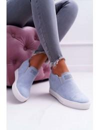 Švelnios pilkos spalvos zomšiniai batai su platforma Lu Boo Blue Kaori - XW36272 LT.BLUE SUEDE