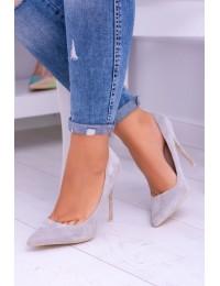 Women s Stilettos Lu Boo Suede Grey Fione - BC-787 GREY