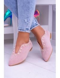 Lu Boo Pink Flat Shoes With Cutouts beads Merseo  - 978-B1B PINK