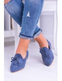 Originalaus dizaino zomšiniai mėlyni bateliai - 978-A8 BLUE