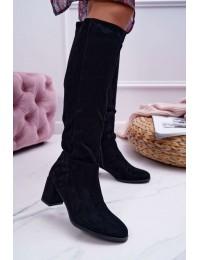 Elegantiški juodos spalvos aukštos kokybės stilingi ilgaauliai - KZ273 BLK MIC