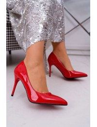 Women s Stilettos Lu Boo Lacquered Red Lanthe - D-42 RED