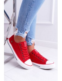 Women's Sneakers Low Big Star Red DD274339 - DD274339 RED