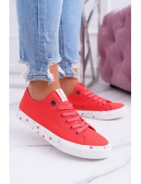 Women's Sneakers Low Big Star Red DD274709 - DD274709 RED