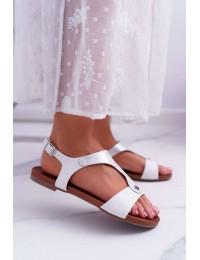 Women s Sandals Flat White Verner - 541-8 WHITE