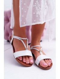 Women s Sandals Flat With Zircons On Belt Silver Madeline - 541-120 SILVER