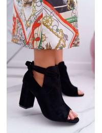 Originalaus dizaino madingi batai atviru priekiu - YQE19-1751 BLK