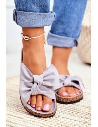 Women's Grey Flip-flops Bows Wendy - CK02P ALL GREY