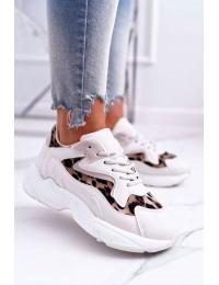 Women s Sport Shoes Beige Leopard Mezeno - R-01 BEIGE LEO