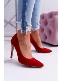 Women s Stilettos Laura Messi Suede Leather Red Valentine - 1727 RED 965