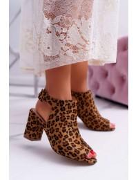 Women s Sandals On High Heel Leopard Esta - P-6702 LEO
