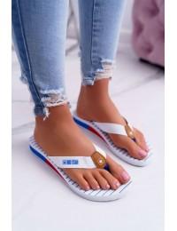 Women's Slides Flip flops Big Star White DD274A245 - DD274A245 WHITE