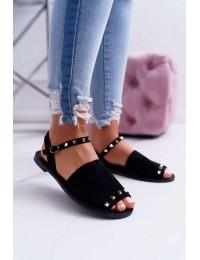 Women's Sandals Lu Boo Black Suede Silena  - 108-B15 BLK