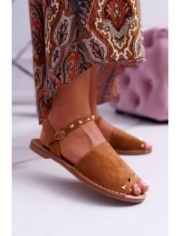 Women's Sandals Lu Boo Camel Suede Silena  - 108-B15 CAMEL