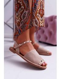 Women's Sandals Lu Boo Beige Suede Silena  - 108-B15 BEIGE