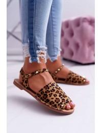 Women's Sandals Lu Boo Leopard Suede Silena  - 108-B15 LEO/CAM