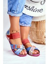 Women's Sandals Maciejka Multicolor 03375 Leather  - 03375-38 MULTI