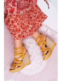 Women's Sandals On Wedge Heel Yellow Liluena - LA-96 YELLOW