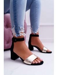 Women's Sandals Maciejka Leather Black 04141-25/00-5 - 04141-25/00-5 BLK/GOLD