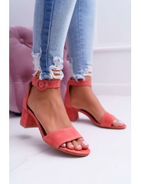 Women's Sandals Maciejka Leather Pink 04141-15/00-5 - 04141-15/00-5 PINK