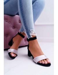 Women's Sandals Maciejka Leather Black 04141-01/00-5 - 04141-01/00-5 BLK/PINK