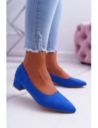 Women's Pumps Suede Blue Rheya  - CC205 BLUE