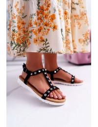 Women's Sandals Lu Boo With brads Black Mariachi - 108-1 BLK