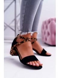 Women's Sandals On High Heel Lu Boo Black Fall In Love - FC-6711 BLK