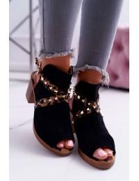 Women's Sandals On High Heel Lu Boo Black 318-30 Fiode - 318-30 BLK