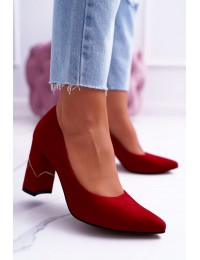 Women's Pumps Maciejka Suede Red Laura Messi 2050 Tiffany - 2050 RED 082