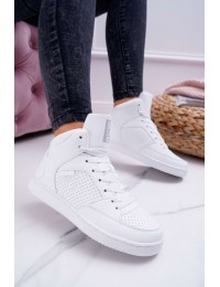 Women's Sneakers Big Star High White EE274210 - EE274210 WHITE