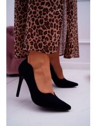 Women s Stilettos Suede Black S.Barski Ziger - L65-1 BLK
