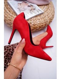 Women s Stilettos Suede Red S.Barski Ziger - L65-1 RED