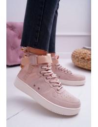 Natūralios verstos odos stilingi batai - EE274658 PINK