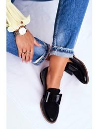 Women's Brogues Loafers Maciejka Leather Black 04099-01/00-5 - 04099-01/00-5 BLK