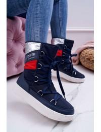 Šilti žieminiai laisvalaikio stiliaus batai - EE274657 NAVY