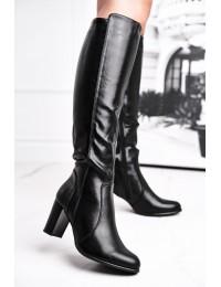 Klasikinio stiliaus ilgaauliai batai Sergio Leone Black  - KZ275 BLK PU